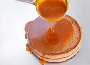 Apricot jam in Sacher-Torte