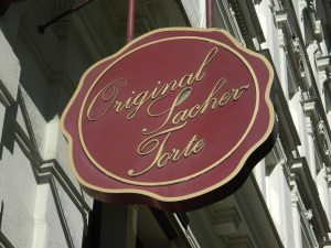 Original Sacher-Torte sign