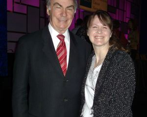 Deborah with Sam Donaldson