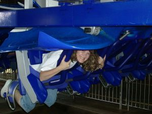 Deborah on Manta at SeaWorld Orlando