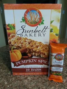 Sunbelt Bakery pumpkin spice chewy granola bars