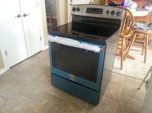 New GE Oven before installation