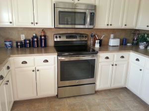 Whirlpool microwave and GE oven